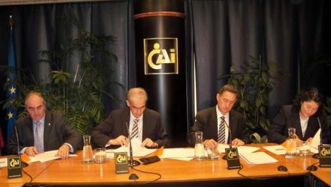 Firma Del Convenio En La Sede De CAI