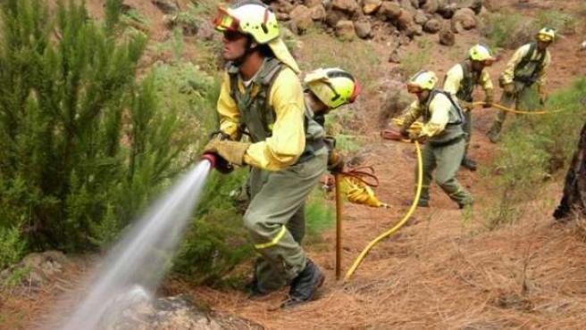 Equipos de extinción de incendios de Tragsa