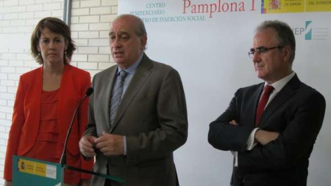El Ministro Del Interior En La Inauguración De La Cárcel De Pamplona.