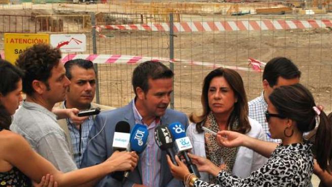 Los parlamentarios del PP José Eduardo Díaz, Víctor González y Ana Rico