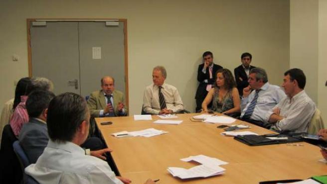 Reunión De Julio Villarrubia Con El Grupo Socialista Del Parlamento Europeo