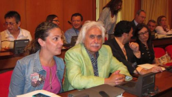La Bancada De La Oposición En El Pleno Con Rafael Gómez Al Frente