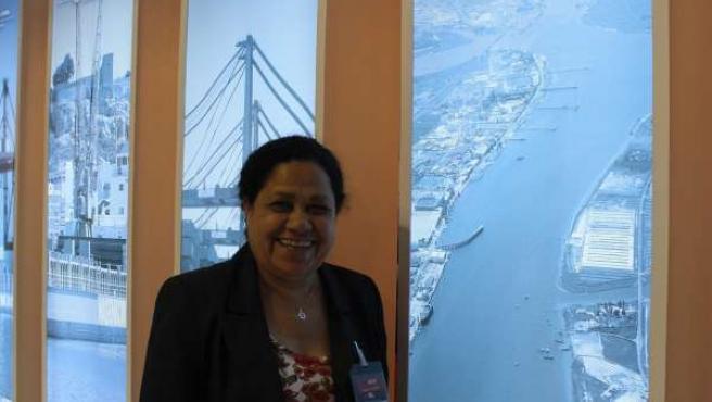 La Presidenta De La Autoridad Portuaria De Huelva, Manuela De Paz, En El SIL.