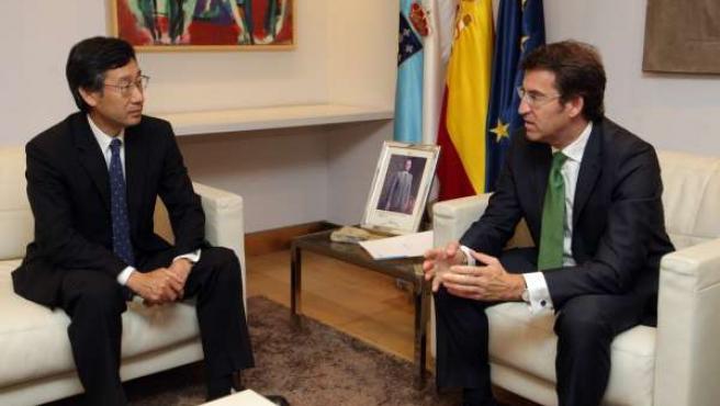 Alberto Núñez Feijóo Y El Embajador De Japón En España, Satoru Satoh