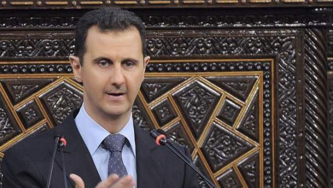 El presidente sirio, Bachar Al Assad, en el Parlamento en Damasco, en 2012.