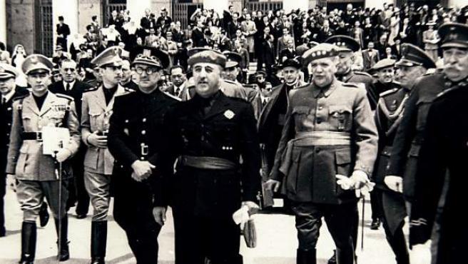 Francisco Franco, en la localidad de Ferrol en 1941.