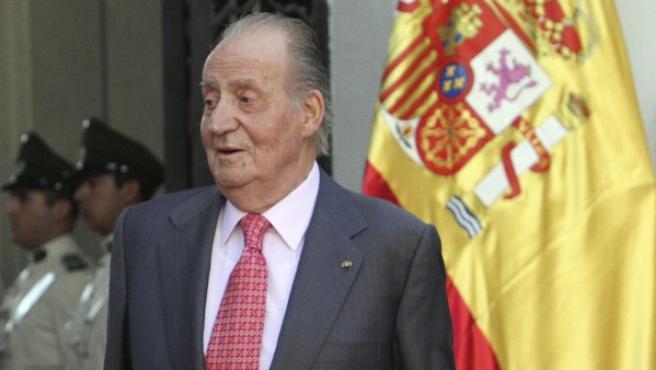 El rey de España, Juan Carlos I.