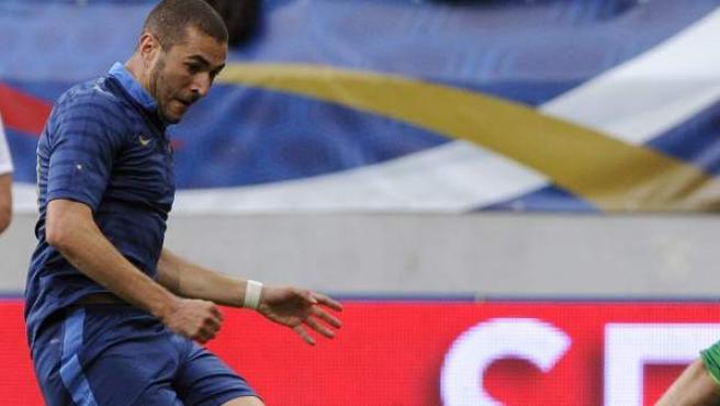 Karim Benzema, en un amistoso de la selección de Francia.