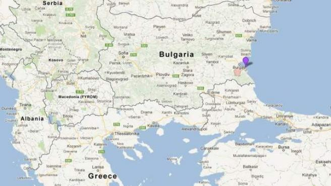 Zona en la que se han encontrado los esqueletos de los supuestos 'vampiros, en Sozopol (Bulgaria).