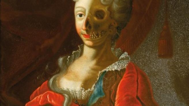 'Vanitas', óleo realizado por un maesto alemán del siglo XVIII