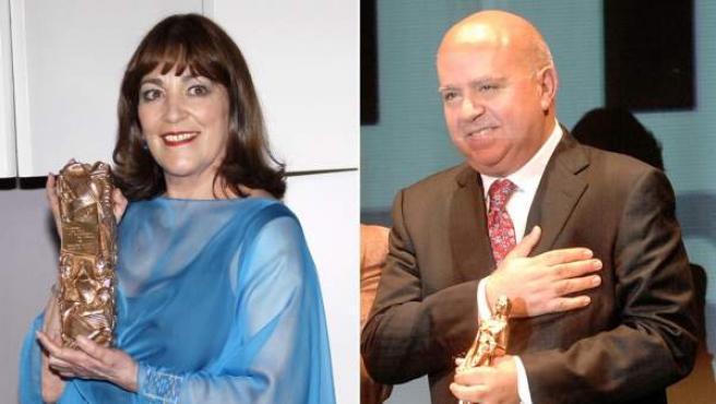 Carmen Maura y Agustín Almodóvar.