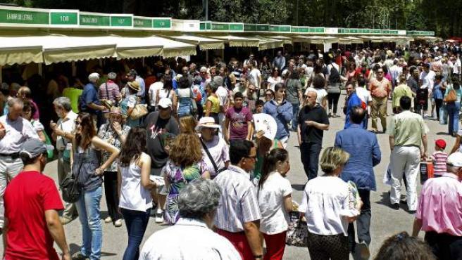Una imagen de la Feria del Libro de Madrid.
