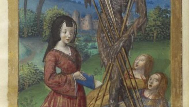 'Denise Poncher ante una visión de la Muerte', obra de un maestro francés
