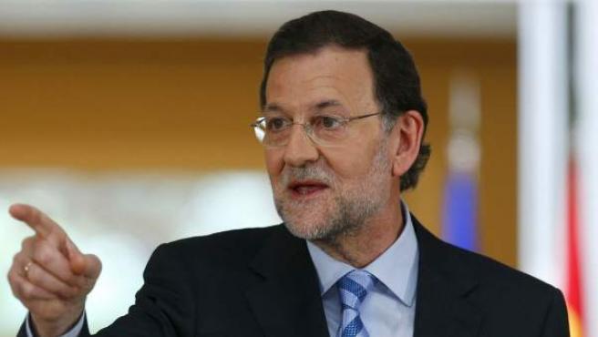 Mariano Rajoy, durante su primera comparecencia tras el rescate a España, en La Moncloa.