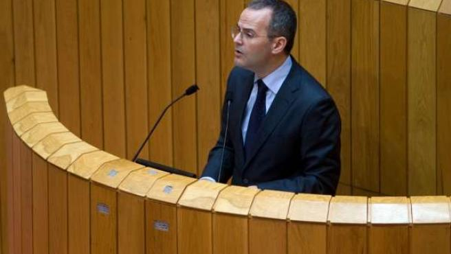 El Conselleiro Jesús Vázquez En El Parlamento.