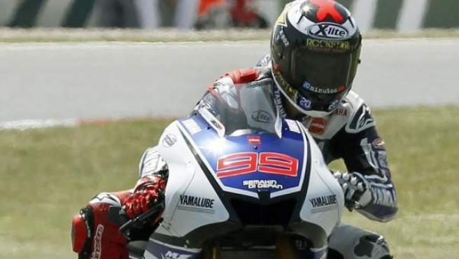 El piloto español de Yamaha, Jorge Lorenzo.