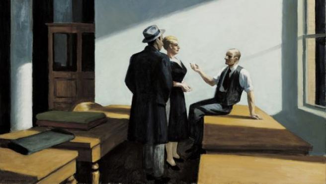 'Conference at Night' ('Reunión nocturna') (1949), uno de los cuadros de la exposición del Thyssen