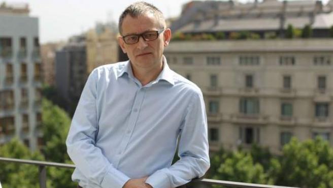 El autor flamenco en Barcelona durante la presentación de su últma novela 'Cuando los dioses duermen'.