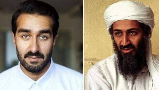 El actor Ricky Sekhon y Bin Laden
