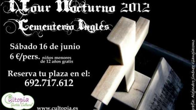 Cartel de las visitas nocturnas al cementerio