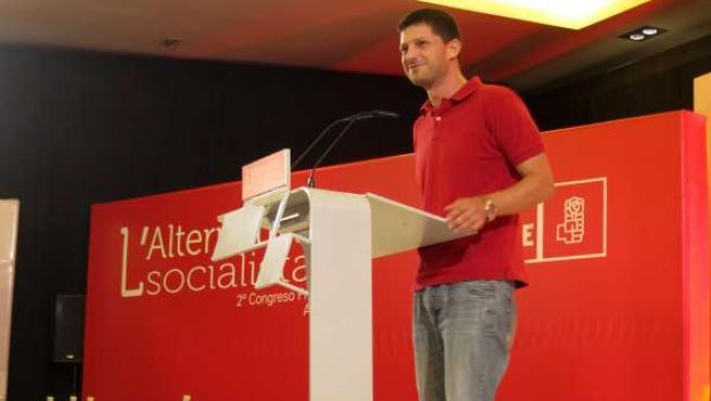 Cerdán Durante Su Intervención En El Congreso Del PSPV Alicantino