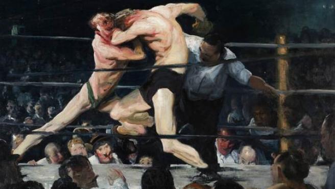 Uno de los óleos de boxeo de Bellows, realizado en 1909