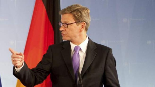 El ministro alemán de Asuntos Exteriores, Guido Westerwelle.