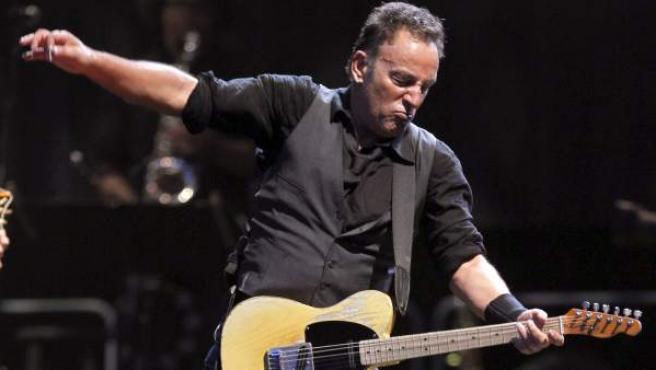 El cantante estadounidense, Bruce Springsteen, en su concierto en Madrid.