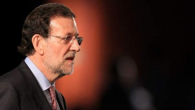 El presidente del gobierno español, Mariano Rajoy, en un momento de su intervención en el pleno de la Conferencia de la ONU sobre Desarrollo Sostenible RIO+20.
