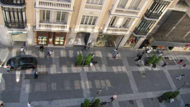 Calle Del Centro Histórico De Valladolid