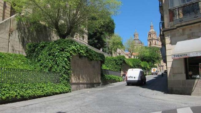 Calle Palominos De Salamanca, Que Pasará A Ser Peatonal El Lunes