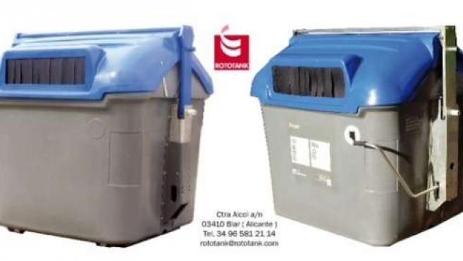 Imagen Comparativa Del Nuevo Contenedor (Izquierda) Y El Tradicional (Derecha)