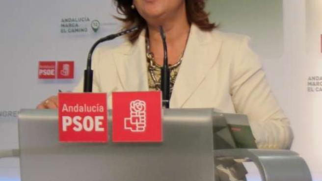 La Presidenta Del PSOE-A, Rosa Torres, Hoy En Rueda De Prensa