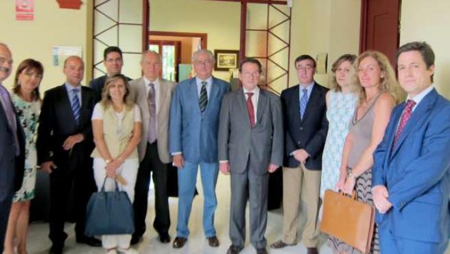 Emilio De Llera En La Reunión Con El Pleno Del Consejo De Procuradores