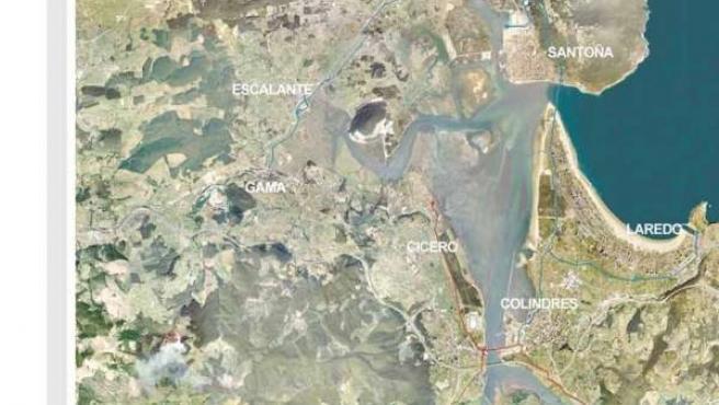 Mapa Saneamiento Marismas Santoña