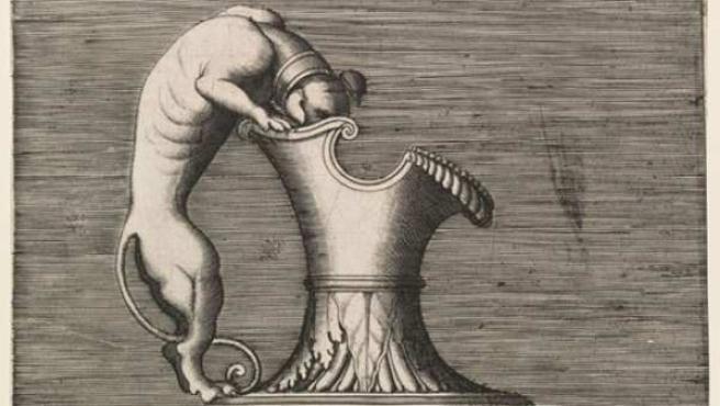 'Jarra con asa en forma de perro' (1543), de Enea Vico, grabador italiano