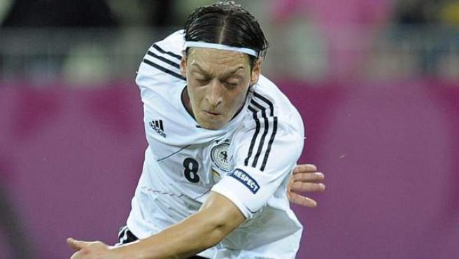 Mesut Özil con la selección de Alemania en la Eurocopa.