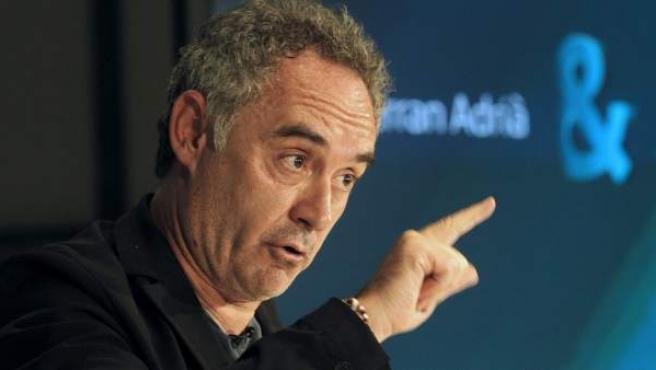 El chef Ferran Adrià, en una foto de 2011.