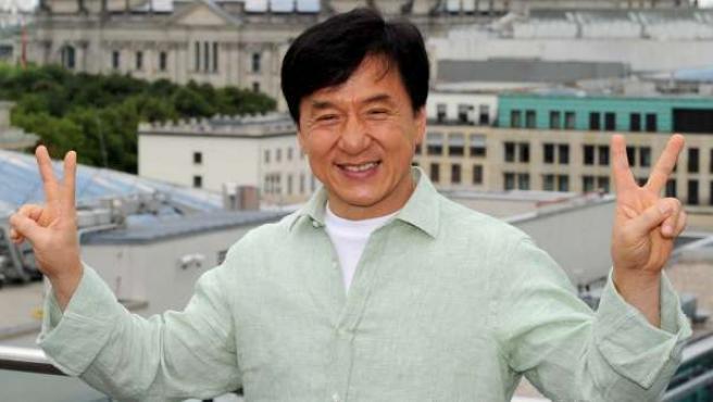 El actor Jackie Chan durante un estreno.