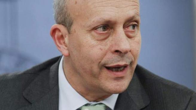 El ministro de Educación, Cultura y Deporte, José Ignacio Wert, durante la rueda de prensa tras la reunión semanal del Consejo de Ministros.