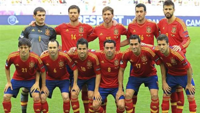 Once inicial de España en la Eurocopa de Polonia y Ucrania 2012.