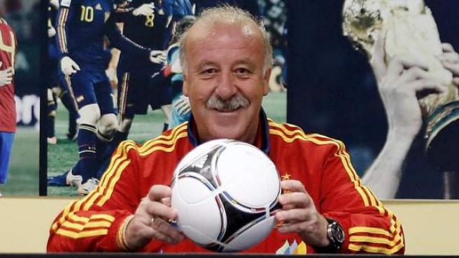 El seleccionador español, Vicente Del Bosque.