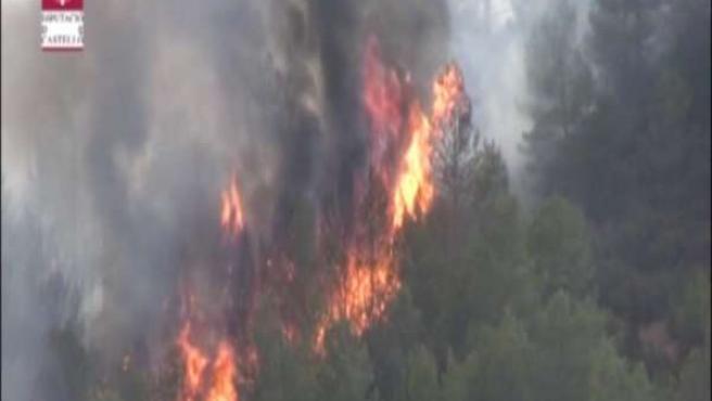 Fallece un piloto en el incendio de Valencia