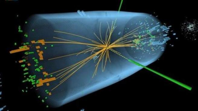 Imagen del experimento con el que se ha demostrado la existencia del bosón de Higgs.