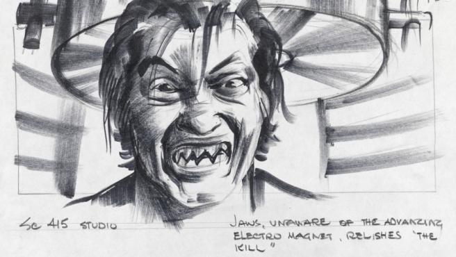 """Boceto de la dentadura de Tiburón para """"La espía que me amó"""""""
