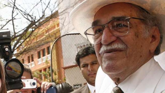 Gabriel García Marquez en Cartagena de Indias.