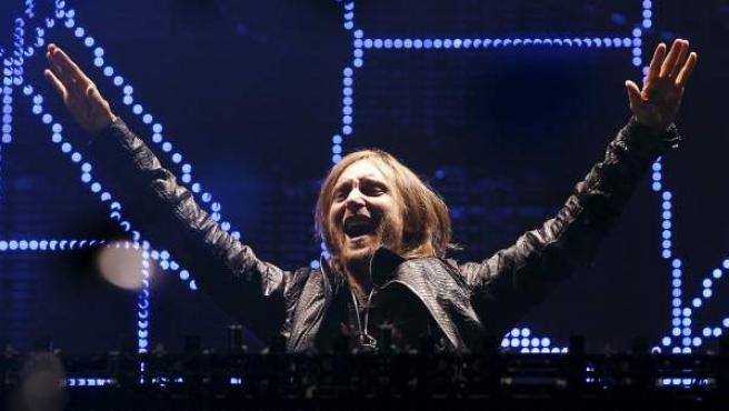 El DJ francés Davis Getta durante el concierto en el Rock in Río 2012.