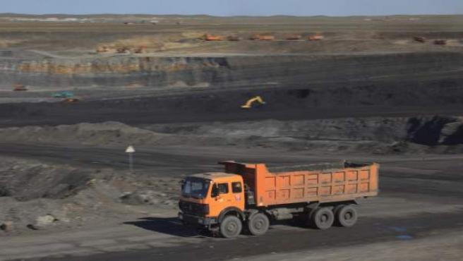 Imagen de archivo de la superficie de una mina.