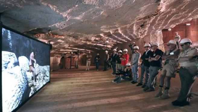 Presentación de La Cueva del Tiempo, un proyecto divulgativo basado en la innovación que se ubica en la Cueva del Compresor de los yacimientos de la sierra de Atapuerca.