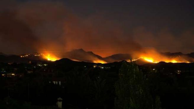 Incendio Hellín Noche